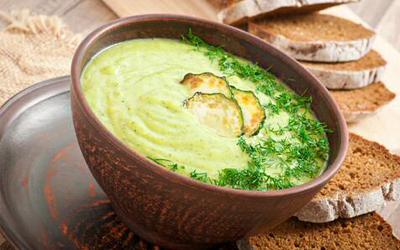 Kremet squash suppe med brød