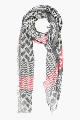 Sophie Faded Print Oversized Scarf