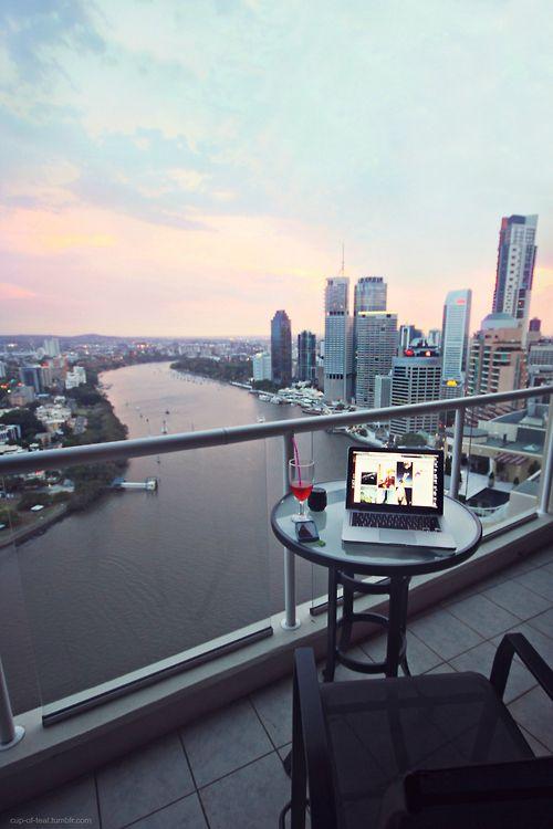 Utsikt fra en balkong