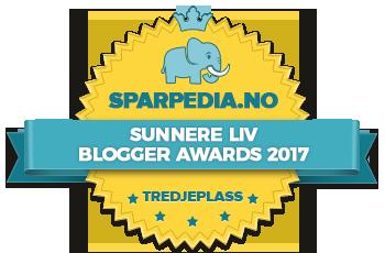 Banners  for  Sunnere  Liv  Blogger  Awards  2017  Vinners